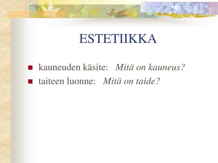 ESTETIIKKA