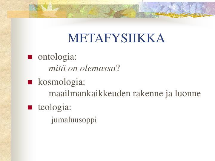 METAFYSIIKKA