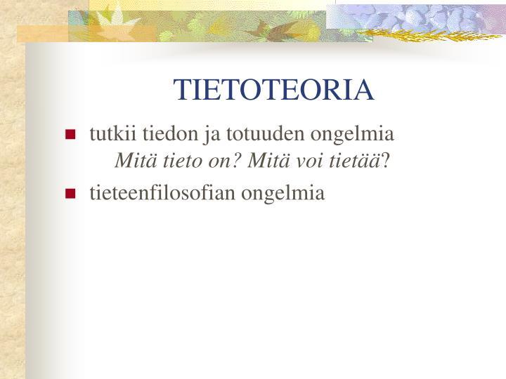TIETOTEORIA