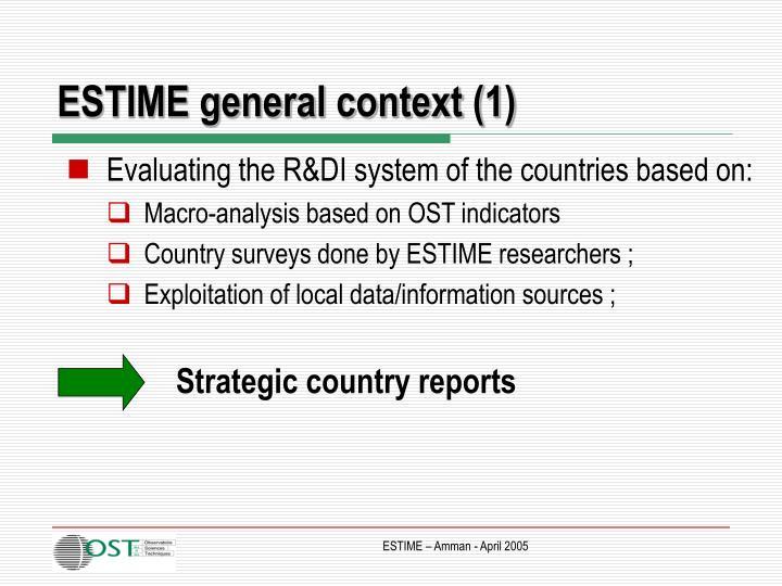 ESTIME general context (1)