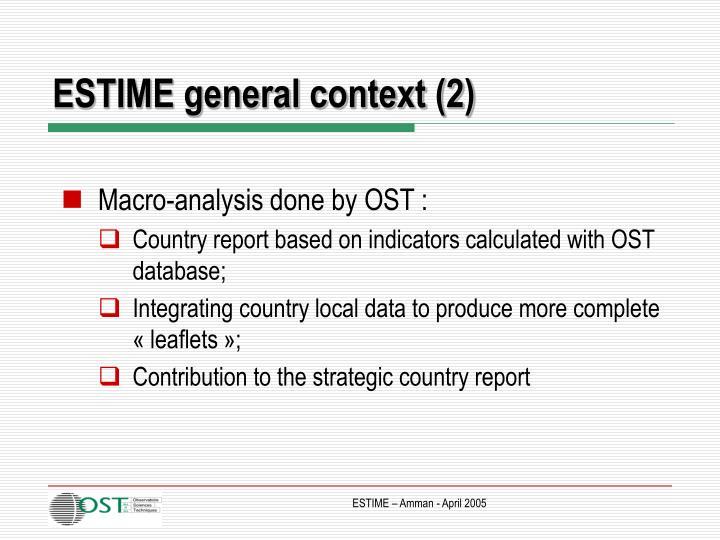 ESTIME general context (2)