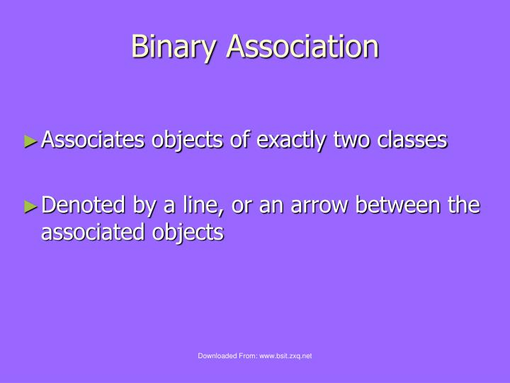 Binary Association