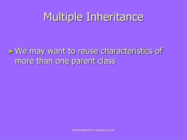 Multiple Inheritance