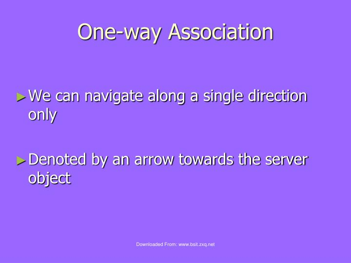 One-way Association