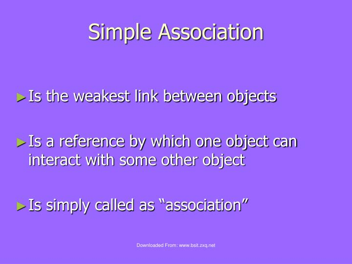 Simple Association