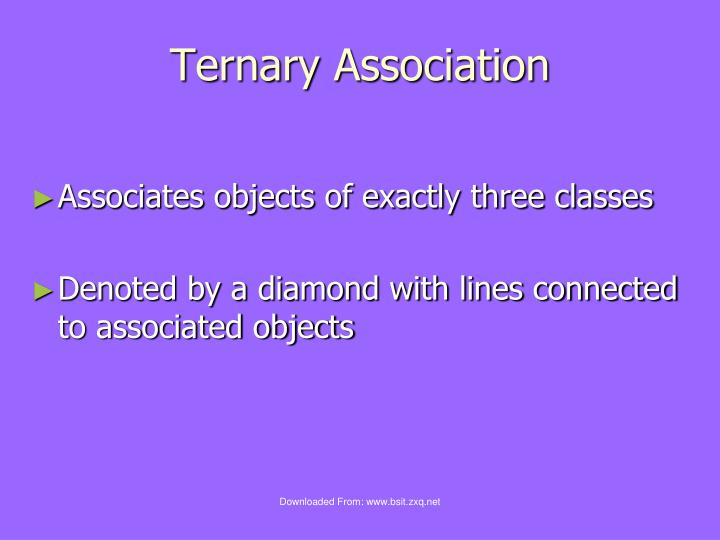 Ternary Association