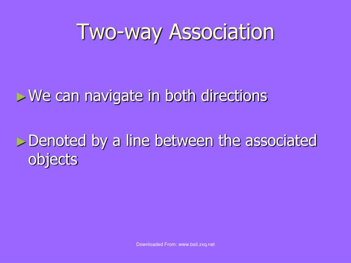 Two-way Association