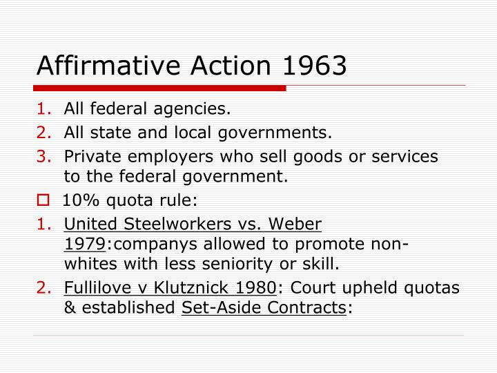 affirmative action and civil rights violation