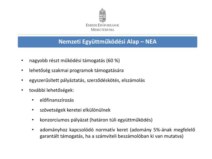 Nemzeti Együttműködési Alap – NEA