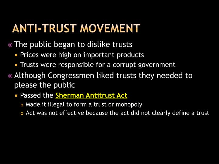 Anti-Trust Movement