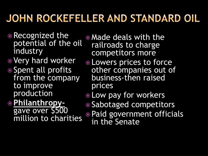 John Rockefeller and Standard Oil