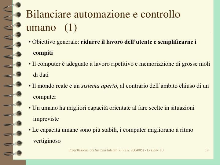 Bilanciare automazione e controllo umano   (1)