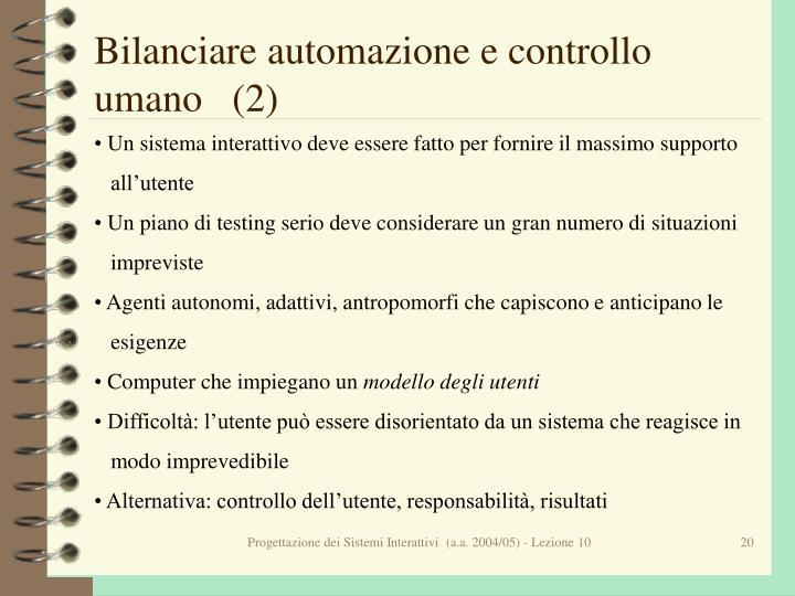 Bilanciare automazione e controllo umano   (2)