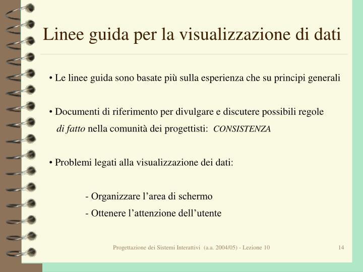 Linee guida per la visualizzazione di dati
