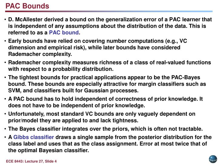 PAC Bounds