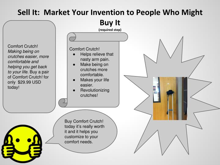 Sell It:  Market Your Invention to People Who Might Buy It