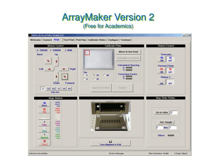ArrayMaker Version 2