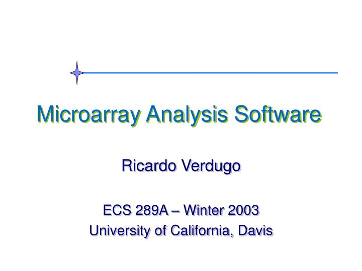 Microarray analysis software