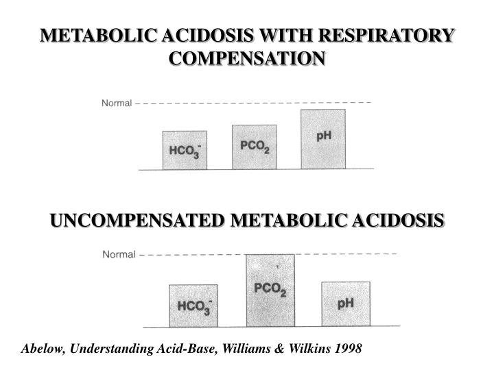 METABOLIC ACIDOSIS WITH RESPIRATORY COMPENSATION
