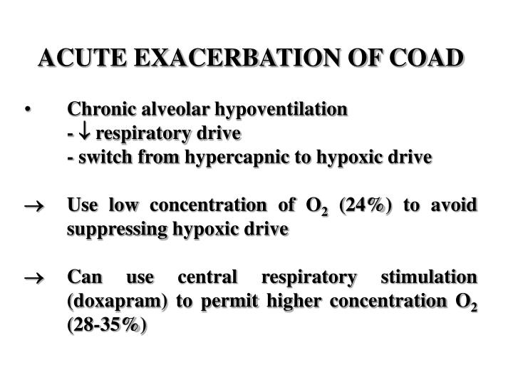 ACUTE EXACERBATION OF COAD