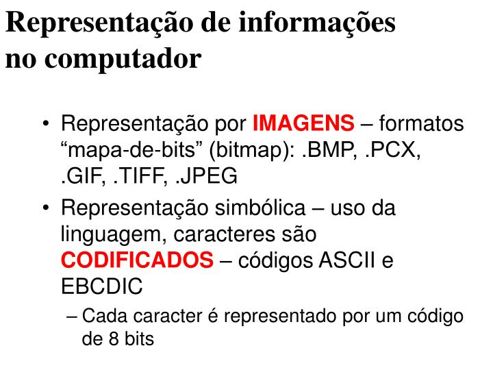 Representação de informações