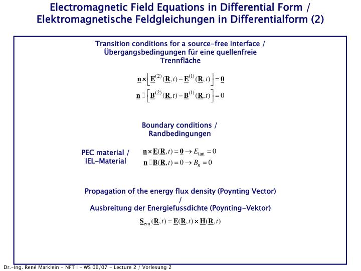 Electromagnetic Field Equations