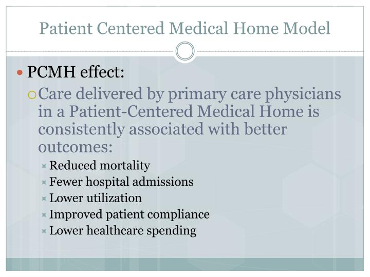 Patient Centered Medical Home Model