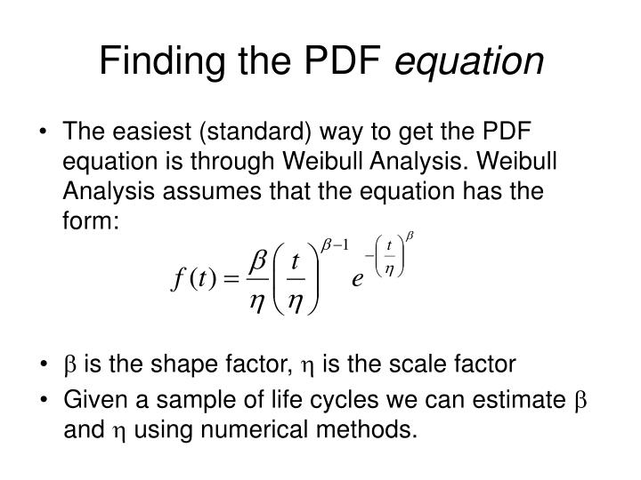 Finding the PDF