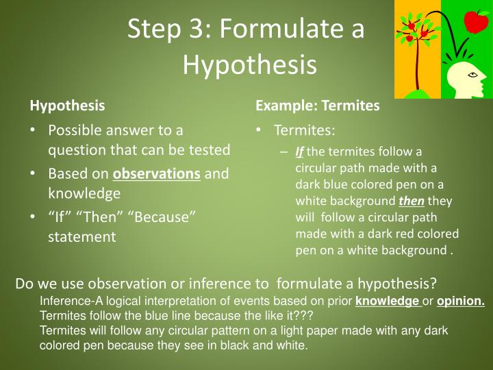 Step 3: Formulate a