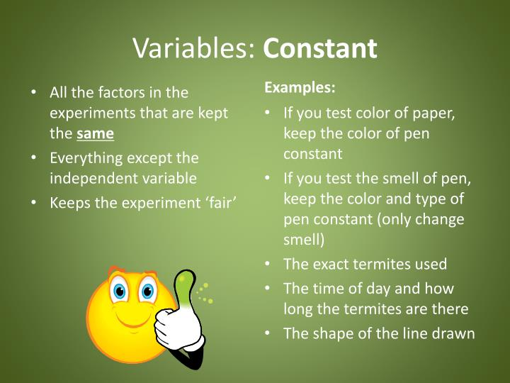 Variables: