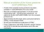 manual annotation of the human proteome uniprotkb swiss prot