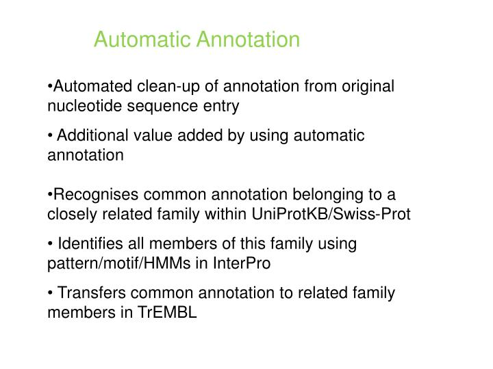 Automatic Annotation