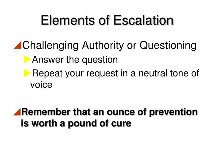 Elements of Escalation