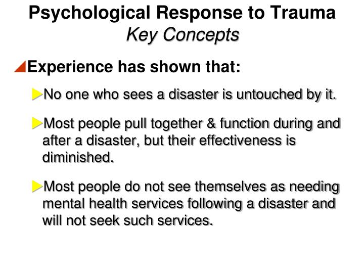 Psychological Response to Trauma