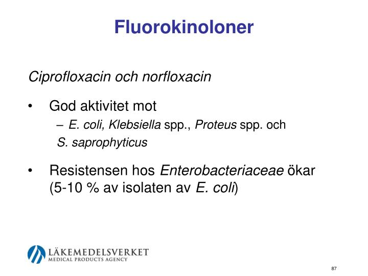 Fluorokinoloner