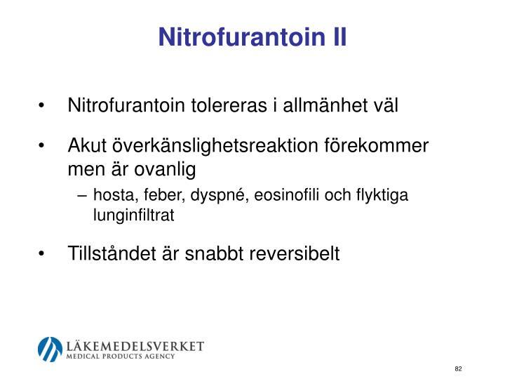 Nitrofurantoin II