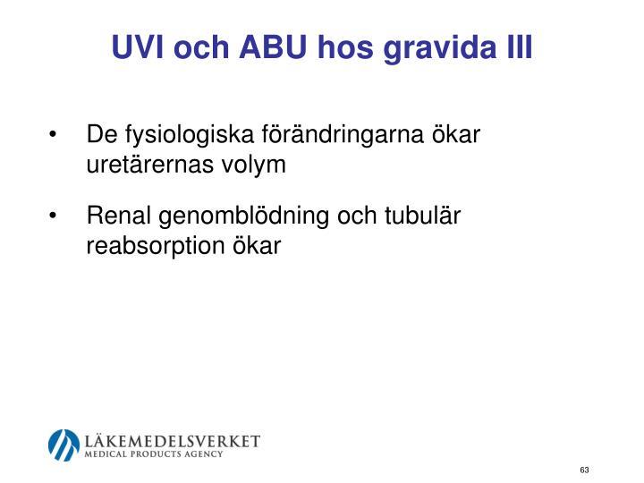 UVI och ABU hos gravida III