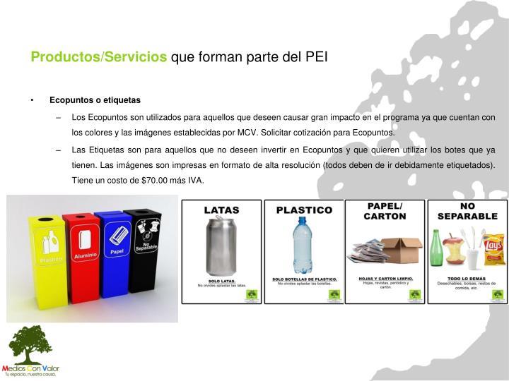 Productos/Servicios