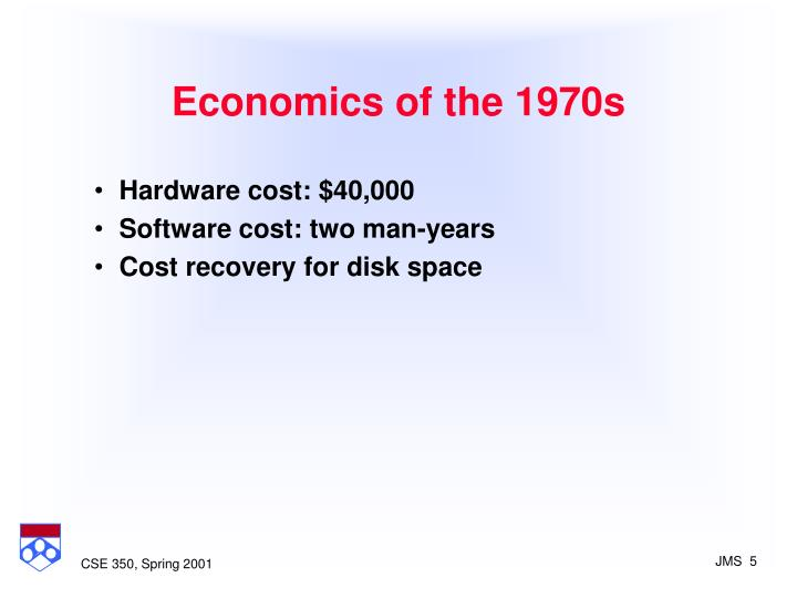 Economics of the 1970s