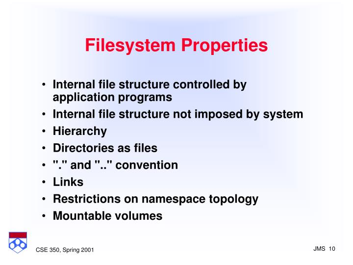 Filesystem Properties