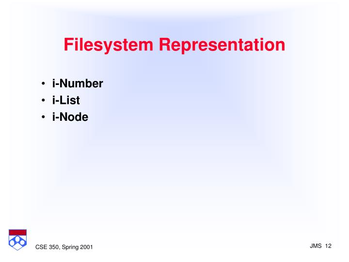 Filesystem Representation
