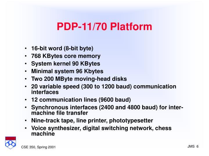 PDP-11/70 Platform