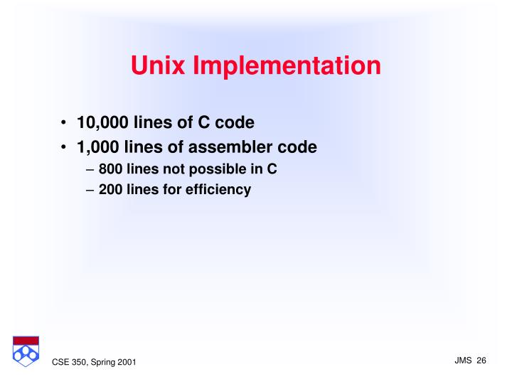 Unix Implementation