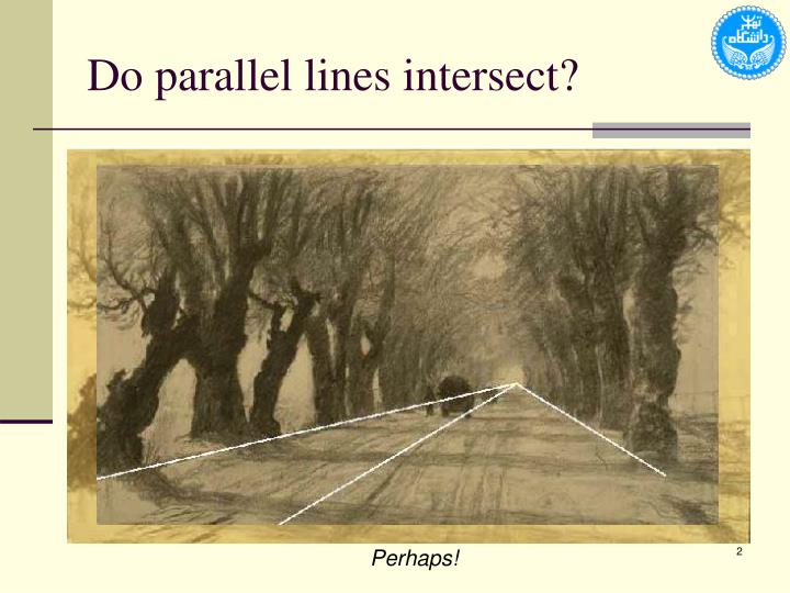 Do parallel lines intersect