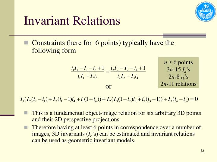 Invariant Relations