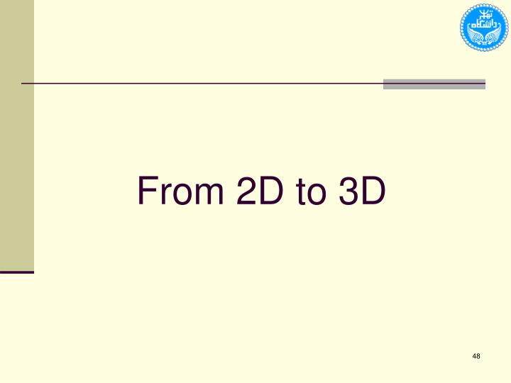 From 2D to 3D