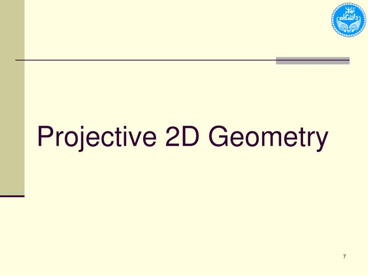 Projective 2D Geometry