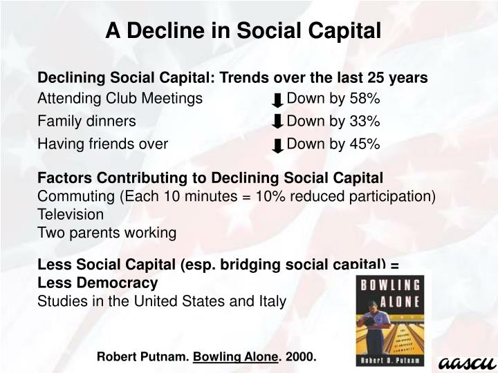 A Decline in Social Capital