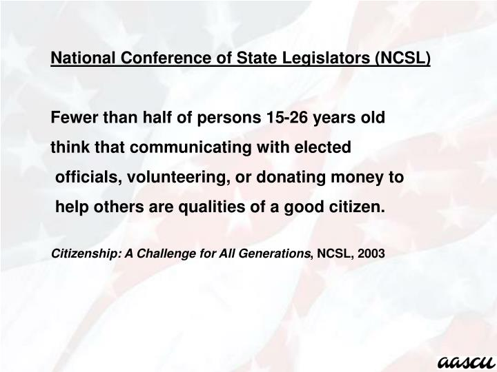 National Conference of State Legislators (NCSL)