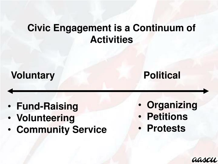 Civic Engagement is a Continuum of Activities